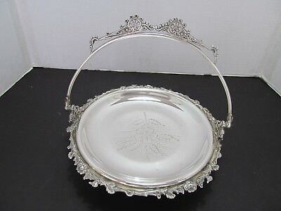 Antique (Circa 1894) Silverplate Bridal Basket:by Forbes Silver Co.