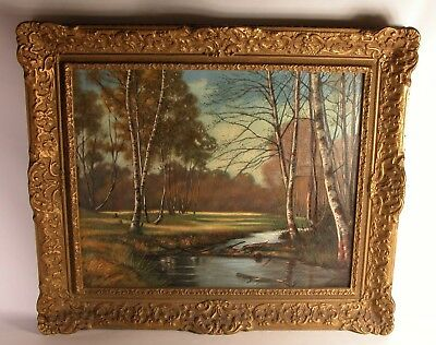 Bruce Mitchell Canadian Artist Oil Ptg. Titled Cannock Chase Staffordshire Eng