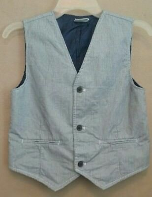 CRAZY8 Boys size Large(10-12) Blue Stripe Vest,  Boys Tops and Blouses,  Vest