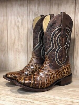 deaa84cfb5f CORRAL MEN'S HONEY Brown Alligator Square Toe Western Boots A3489