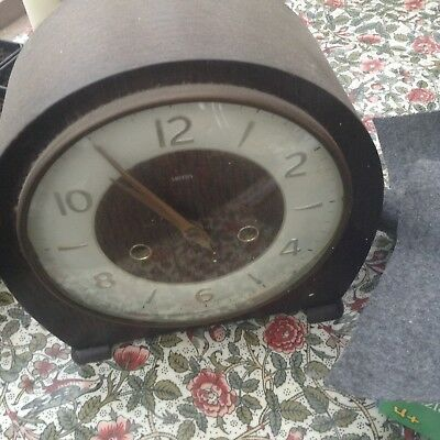 Old Wooden Mantle Clock Smiths Wooden