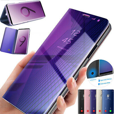 Handy Hülle 360 Clear View Mirror Flip Case Cover Tasche Für Samsung Galaxy