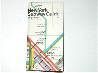Massimo Vignelli Subway Map 1978.Massimo Vignelli 1978 New York Subway Map Guide Nycta Final Design Year
