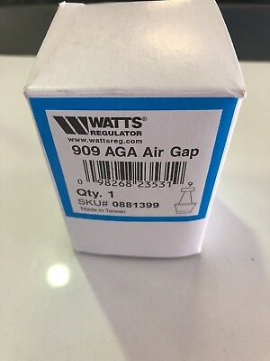 WATTS 909 AGA Air Gap, 1/4 to 1/2 In, Use w/Series 909