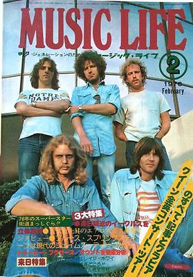 MUSIC LIFE Japan Magazine 2/1976 Aerosmith Queen Kiss Deep Purple 10cc Eagles