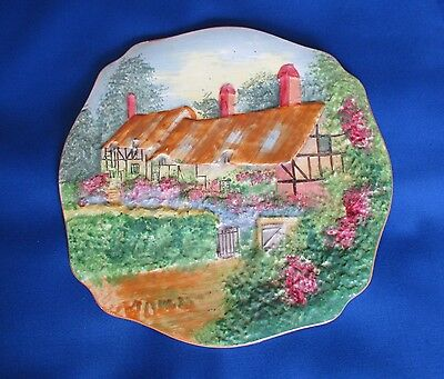 Old Collectable Antique Vintage  Ann Hathaways Cottage China Porcelain Plate
