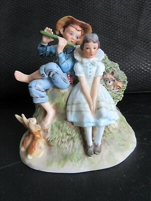 """Norman Rockwell Bone China Figurine - """" Sweet Song So Young """" - Spring - New"""