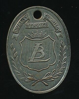 LIT BROTHERS DEPARTMENT STORE Antique Credit Token Charge Coin PHILADELPHIA