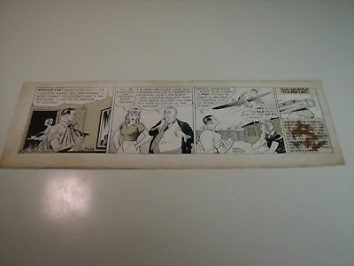 Skyroads by Russell Keaton  - 1935 Original Daily Comic Art