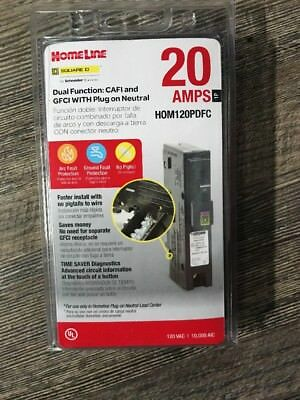 Square D Homeline Hom120Pdfc 20A Dual Function Plug In Breaker New In Package