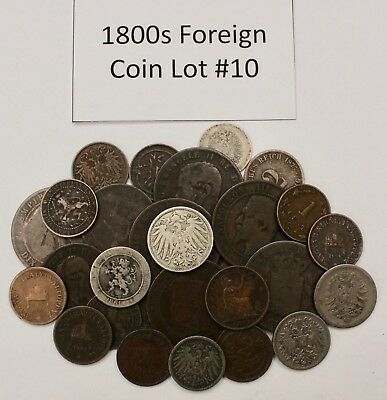 1800s Coin Lot: Collection of Old Foreign Coins 10
