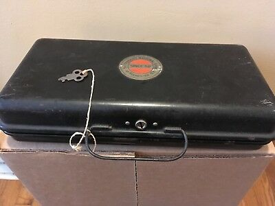 Vintage Cash Strong Lock Box Traders National Bank Rochester New York NY w/ Key