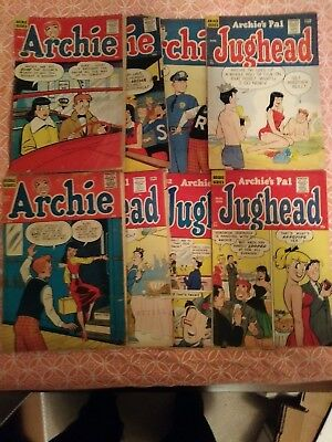 8 Archie Golden Age Comic Book Lot Complete And Unrestored