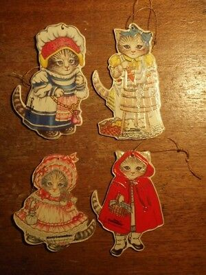 Kitty Cucumber Ornaments - Set of 4 - Excellent Shape