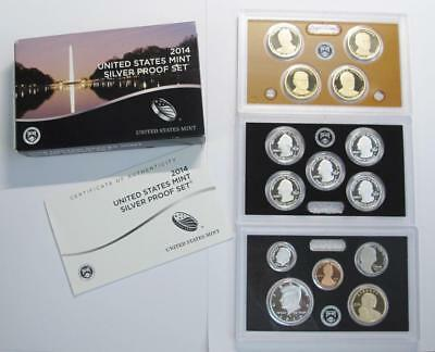 2014-S U.S. Silver Proof Mint Set * 90% Silver Half, Qtrs & Dime * 14 Piece Set