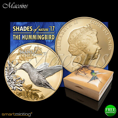 Hummingbird Shades Of Nature 2017 Cook Islands 999 Proof Silver Coin