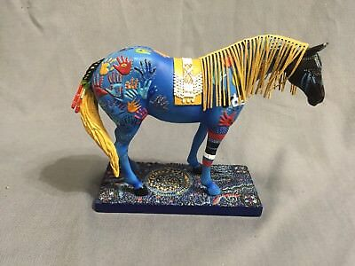 The Trail Of Painted Ponies Blue Medicine 1547 Blue Horse Figurine 2004 1E/2259