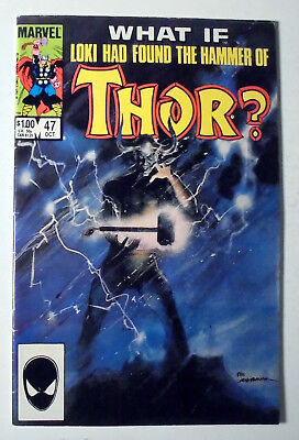 What If? #47 Loki Found Hammer of Thor Copper Age Marvel Comic Book 1984 FN