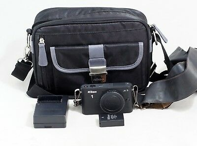 Nikon 1 J1 10.1MP BLACK Mirrorless Digital Camera Body PLUS Items Shown