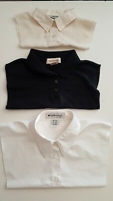 Three Dickie Faux Collar Polo Knit, Cotton Button-down