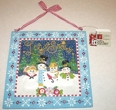 LET IT SNOW Mary Engelbreit Christmas Holiday Wall Sign Collectible Decor