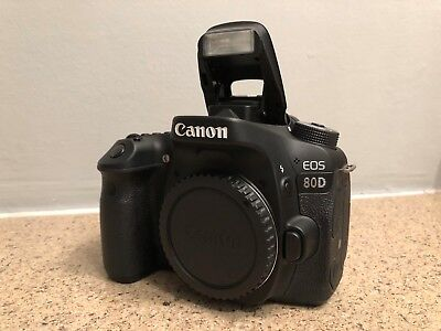 Canon EOS 80D 24.2MP Digital SLR Camera - Black (Body Only) - GREAT CONDITION