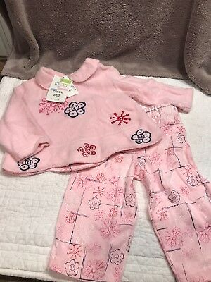 Girls baby 12 month 2 pc outfit pink KRU leggings and long sleeve top~ Wow