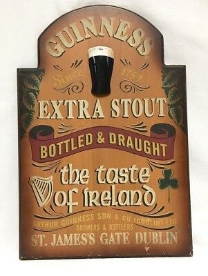 3D Guinness Extra Stout Beer Wood Pub Bar Sign Wall Art The Taste Of Ireland