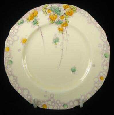 Paragon Yellow & Green 'Summer Roses' Side Plate