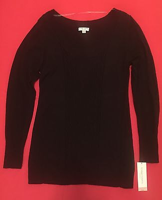 XL Liz Lange Black Maternity Sweater