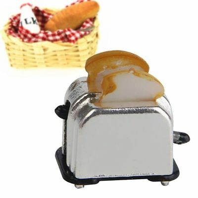 Maker Tool Miniature Food 1/12 Dollhouse Decoration With 2 Piece Of Bread