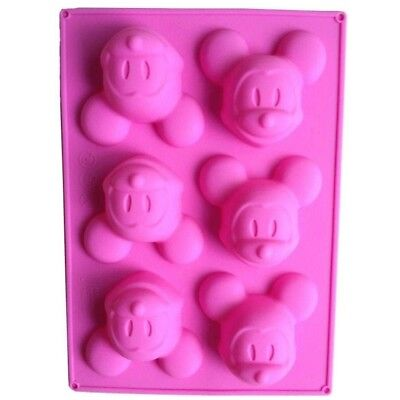 Mickey Mouse Silicone Mould Perfect For Chocolate Fondant jelly Or Soap