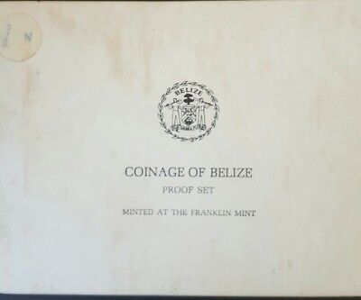 1975 Belize Proof Set - 8 Coins (1 CENT TO TEN DOLLARS)......
