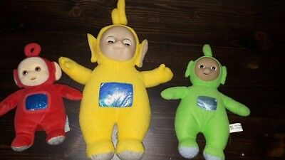 3 teletubbies figuren
