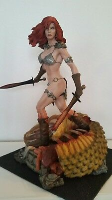 Red Sonja She Devil with a Sword Barbarian 1/4 Premium Format Statue Sideshow