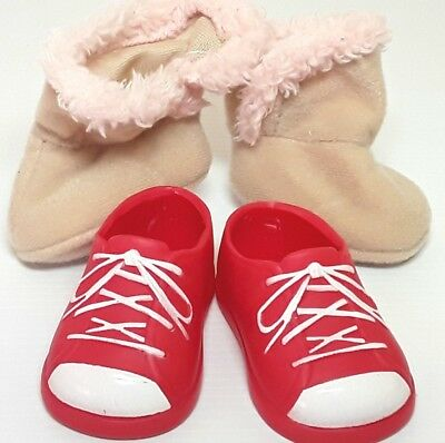 Two pairs Doll shoes accessories
