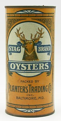 Stag Brand Oyster Tin, Planter's Trading Co., Baltimore, MD - 1 Quart