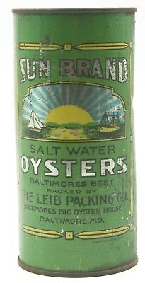 Sun Brand Oyster Tin, The Lieb Packing Co., Baltimore, MD - 1 Quart