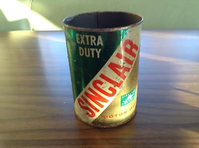 Sinclair gas/oil advertising 1quart oil can extra duty