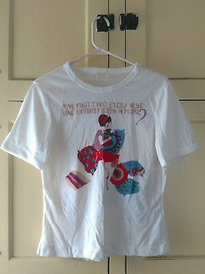 """VERY RARE VINTAGE WOMEN'S SIZE LARGE T-SHIRT """"FIVE FOOT TWO EYES of BLUE"""" MUSIC"""