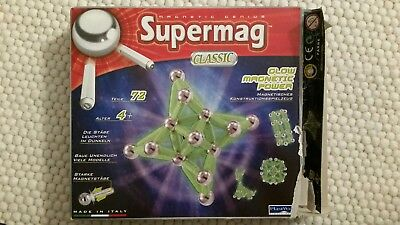Magnetic Genius - Supermag classig, Glow magnetic power,72 Teile