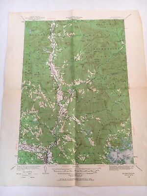 New Hampshire Highway Map Plymouth Quadrangle Printed 1967
