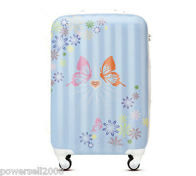 "#4 28"" New Cartoon Butterfly Universal Wheel ABS+PC Travel Suitcase Boarding LLX"