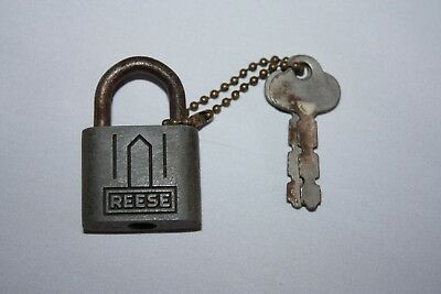 Vintage Reese Padlock and Keys Small Size Working Condition #5 Made In USA