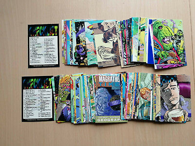 HITCHHIKER'S GUIDE TO THE GALAXY Complete COMIC ART Card Set CARDZ Douglas Adams