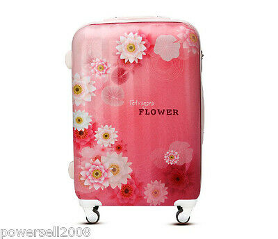 "28"" Fashion Romantic Flowers Universal Wheel ABS+PC Travel Suitcase Luggage LLX"