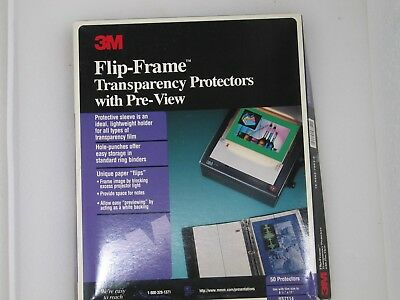 3M RS 7114 Flip Frame Transparency Protectors 50 Per package