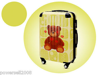 "#7 28"" Lip Prints Lovely Bear Universal Wheel ABS+PC Suitcase Pull Rod Box LLX"