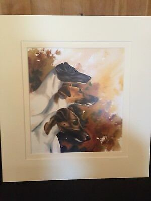 Smooth fox Terrier Watercolor Print by Yvonne Sovereign #4 out of 50..gorgeous!