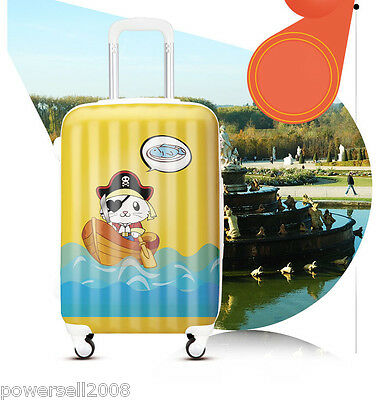 "28"" Universal Wheel ABS+PC Travel Suitcase Luggage SJL01502 ""Pirate Cat"" LLX"